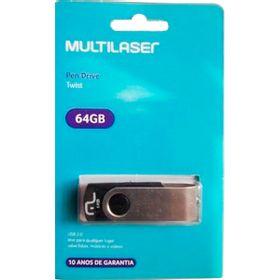 PEN-DRIVE-MULTILASER-TWIST-64GB