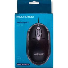 MOUSE-MULTILASER-USB-COM-FIO-PT